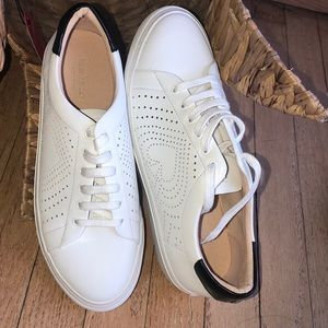 Kate spade NY Aaron white Lace up sneakers shoes.
